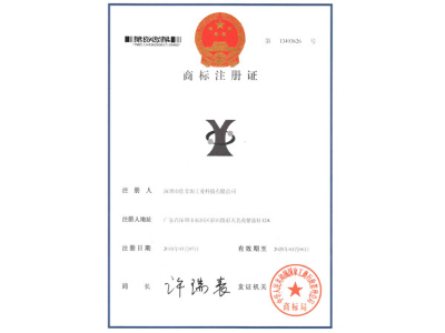 佳金源图案商标注册证